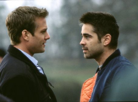 Gabriel Macht James (Farrell, right) begins to suspect Zach (), another recruit, isn't telling everything he knows.