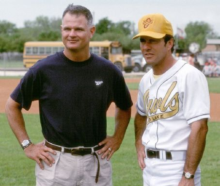 The Rookie Dennis Quaid with Jim Morris, upon whom Walt Disney's