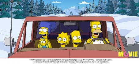 The Simpsons Movie The Simpsons enjoy a family outing far from their Springfield home in THE SIMPSONS MOVIE. Still credit: Matt Groening