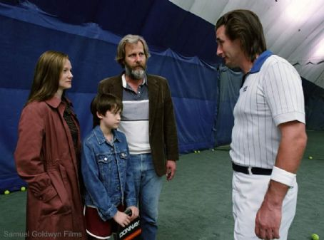 William Baldwin Laura Linney (Joan Berkman), Owen Kline (Frank Berkman), Jeff Daniels (Bernard Berkman), and  (Ivan) in Samuel Goldwyn Films' drama The Squid and the Whale - 2005