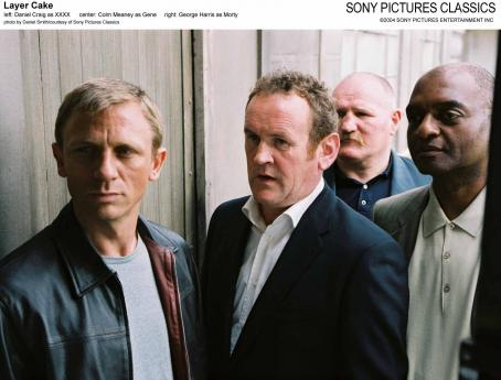 Colm Meaney Left: Daniel Craig as XXXX; Center:  as Gene; Right: George Harris as Morty.