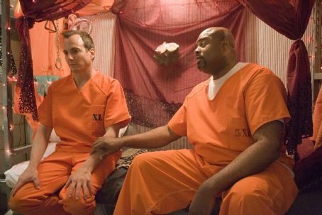Will Arnett  and Chi McBride in Universal Pictures' Let's Go to Prison seduction.