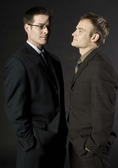 Sebastian Spence  as Timmy Callahan and Chad Allen star as Donald Strachey in Regent Entertainment's, Shock to the System - 2006
