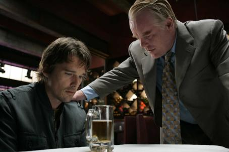 Philip Seymour Hoffman Hank (Ethan Hawke) and Andy () in drama thriller 'Before the Devil Knows You're Dead.'