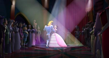 Patrick Warburton Prince Humperdink (voiced by ) and Ella (voiced by Sarah Michelle Gellar) in HAPPILY N'EVER AFTER. Photo credit: Lionsgate