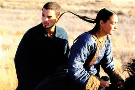 Nomad: The Warrior - Kuno Becker and Ayanat Yesmagambetova star in NOMAD: The Warrior. Photo courtesy of The Weinstein Company/2007.