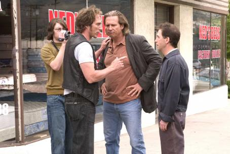 Tim Blake Nelson L to R: Patrick Fugit as Emmett, William Fichtner as Otis, Jeff Bridges as Andy and  as Barney in The Amateurs.