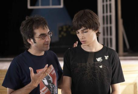 "Adoration ""Director Atom Egoyan with Devon Bostick"" Photo: Sophie Giraud. ©  Productions. Courtesy of Sony Pictures Classics. All Rights Reserved."