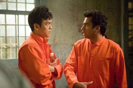 "John Cho  (left) and Kal Penn (right) are ""Harold"" and ""Kumar"" in New Line Cinema's upcoming release HAROLD AND KUMAR ESCAPE FROM GUANTANAMO BAY. Photo Credit: Jaimie Trueblood/New Line Cinema"