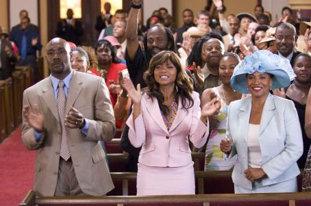 Morris Chestnut  as 'Dave Johnson', Taraji P. Henson as 'Clarice Clark' and Jenifer Lewis as 'Mary 'Mama' Clark' in TriStar Pictures' drama NOT EASILY BROKEN. Photo By: Ron Phillips