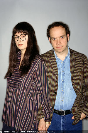 Paul Giamatti Hope Davis as Joyce Pekar and  as Harvey Pekar in Fine Line's American Splendor - 2003