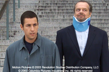 Anger Management Adam Sandler and Jack Nicholson in Columbia's  - 2003