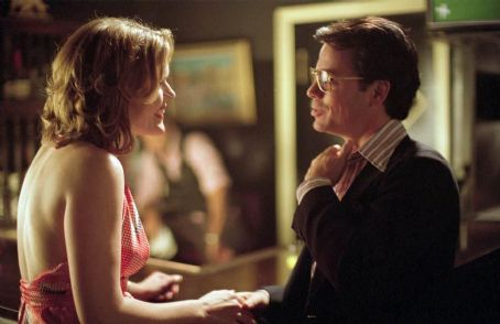 Catherine Dent  as the Seattle Secretary and Greg Kinnear as Bob Crane in Sony Pictures Classics' Auto Focus - 2002