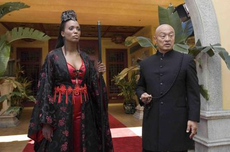 Aisha Tyler  as Mahogany and Cary-Hiroyuki Tagawa as Mysterious Asian Man in Balls of Fury - 2007.