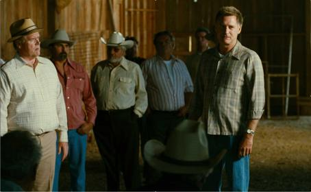 Bill Pullman  as Jim with farmers in Bottle Shock.