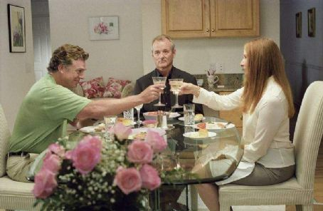 Frances Conroy Christopher McDonald (left), Bill Murray (center) and  (right) star in Jim Jarmusch's BROKEN FLOWERS, a Focus Features release. Photo by David Lee.