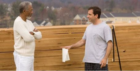 God  (Morgan Freeman) and Evan (Steve Carell) in Universal Pictures' Evan Almighty - 2007