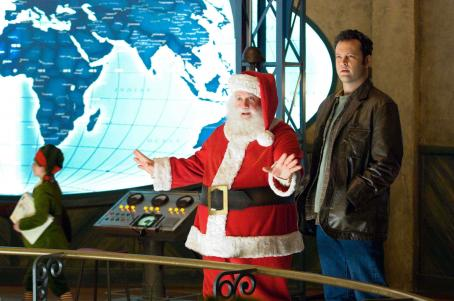 "Paul Giamatti PAUL GIAMATTI stars as Santa Claus and VINCE VAUGHN stars as Fred Claus in Warner Bros. Pictures' comedy ""Fred Claus."" Photo by Jaap Buitendijk."