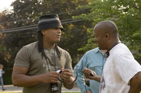 Illegal Tender Director Franc. Reyes and Producer John Singleton behind the scene of  - 2007