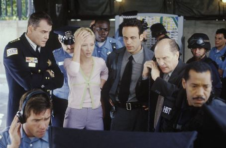 John Q Ray Liotta (left), Anne Heche (second from left) and Robert Duval (second from right) in New Line's  - 2002