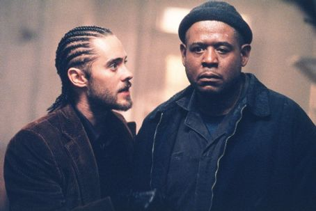 Panic Room Jared Leto as Junior and Forest Whitaker as Burnham in Columbia's  - 2002