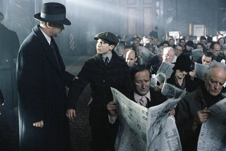 Tyler Hoechlin Michael Sullivan (Tom Hanks) orders his son Michael, Jr. () to wait for him while he attends to some important business in Dreamworks' Road To Perdition - 2002