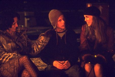 Jesse Eisenberg Jennifer Beals,  and Elizabeth Berkley in Artisan's Roger Dodger - 2002