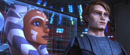 Star Wars: The Clone Wars Anakin and Ahsoka prepare their battle strategy in a scene from the upcoming ',' the first-ever animated Star Wars project from Lucasfilm Animation and Star Wars creator George Lucas. '' wi