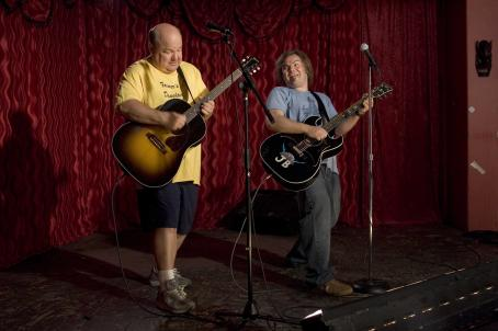 "Kyle Gass (left to right)  stars as ""KG"" and Jack Black stars as ""JB"" in New Line Cinema's upcoming comedy Tenacious D in: The Pick Of Destiny. Photo Credit: 2006 Zade Rosenthal/New Line Productions"