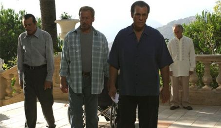 Chazz Palminteri, Elya Baskin, Robert Davi and Bruce Weitz in The Dukes.