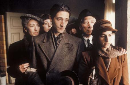 Maureen Lipman, Julia Rayner, Adrien Brody, Ed Stoppard, Frank Finlay and Jessica Kate Meyer in Focus Films' The Pianist - 2002