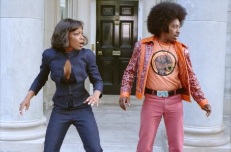 Aunjanue Ellis  and Eddie Griffin in Universal's Undercover Brother - 2002