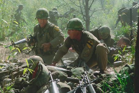 Sam Elliott Mel Gibson and  in Paramount's We Were Soldiers - 2002