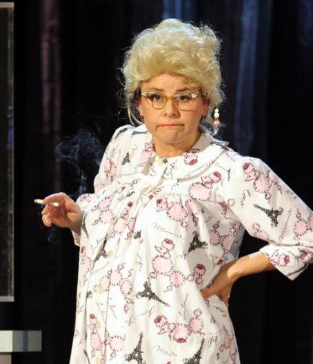 Tracey Ullman  as herself in HBO's comedy movie : Live and Exposed.