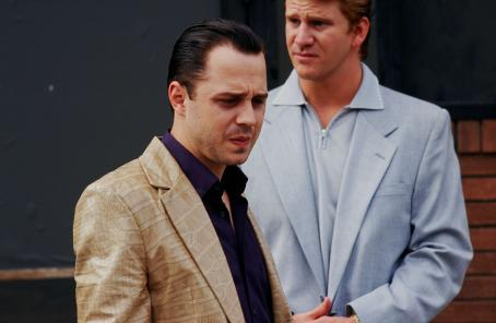 Dash Mihok Joey (Giovanni Ribisi) and Junior () in THINKFilms', 10th and Wolf - 2006