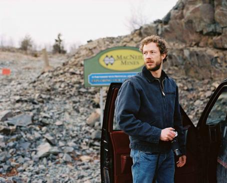 Kris Holden-Ried Jack (Kristen Holden-Ried) prepares to investigate the mine. Photo by Jeff Wheaton.
