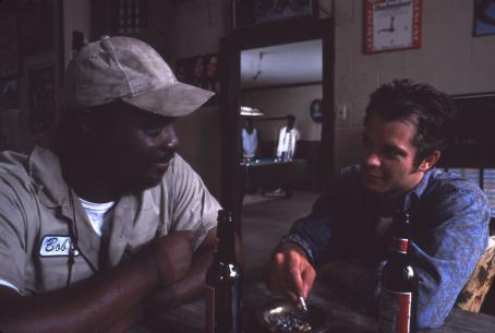 Robert Wisdom Timothy Olyphant as Sonny and  as Bob Johnson in Coastlines directed by Victor Nunez. Photo credit: Jamie Midgley an IFC First Take release.