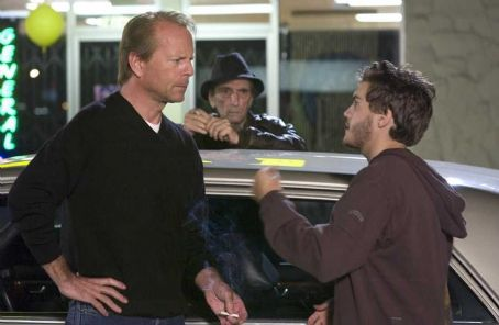 Alpha Dog Bruce Willis as Sonny Truelove, Harry Dean Stanton as Cosmo Gadabeeti and Emile Hirsch as Johnny Truelove in  - 2007