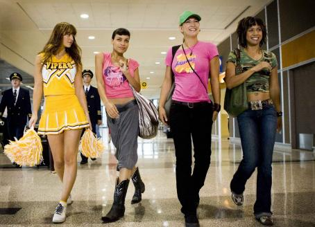 Jordan Ladd L to R: Mary Elizabeth Winstead, Rosario Dawson,  and Tracie Thoms in Death Proof