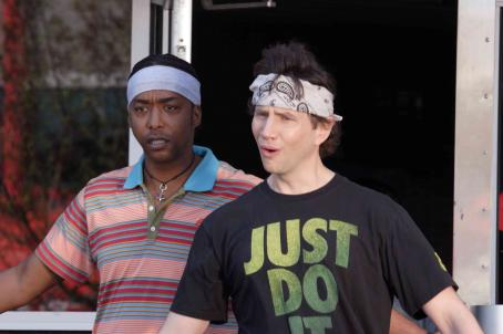 Miguel A. Núñez Jr.  as Darnell Jackson and Jamie Kennedy star as Justin Schumacher in comedy movie Kickin' It Old Skool - 2007