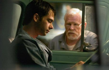 Scott Mechlowicz Dan Millman () and Socrates (Nick Nolte) in PEACEFUL WARRIOR.