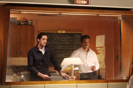 Leonard Chess Adrien Brody as '' and Jeffrey Wright as 'Muddy Waters' in Sony BMG Film, Parkwood Pictures and Tristar Pictures' drama CADILLAC RECORDS. Photo credit: Eric Liebowitz. © 2008 Sony BMG Film. All rights reserved.