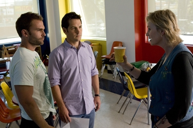 Jane Lynch Seann William Scott as Wheeler, Paul Rudd as Danny and  as Jean Sweeney in Universal Pictures' Role Models.