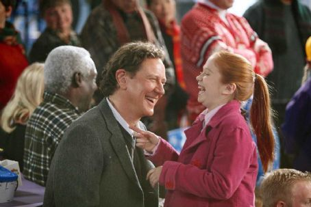 Liliana Mumy (L-R) Judge Reinhold, . Photo credit: Joseph Lederer © Disney Enterprises, Inc. All rights reserved.