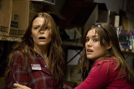 Megan Boone Sarah Palmer (Jaime King, left) and Megan () in MY BLOODY VALENTINE 3D. Photo credit: Michael Roberts