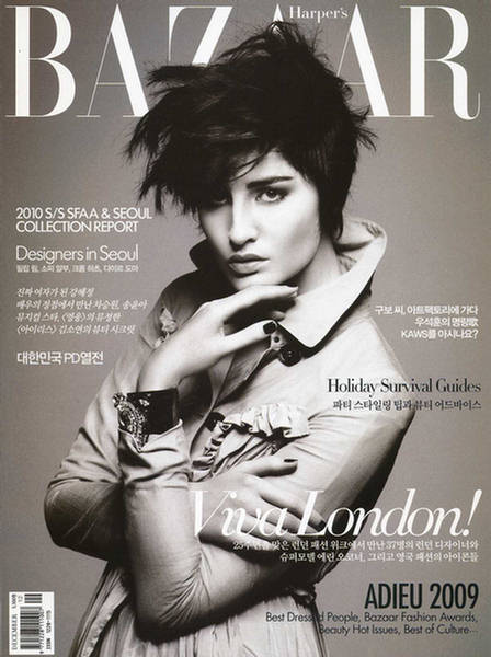 Erin O'Connor Erin O'Connor Harper's Bazaar Korea December 2009