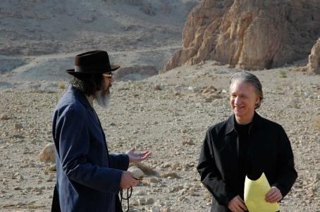 Bill Maher Larry Charles and  during production on their documentary RELIGULOUS. Photo credit: Alexandra Lambrinidis.