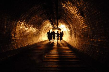 28 Weeks Later The group runs through a tunnel as London is being firebombed.