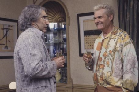 Eugene Levy  and Fred Willard in Castle Rock Entertainments documentary-style comedy 'A Mighty Wind,' distributed by Warner Bros. Pictures.