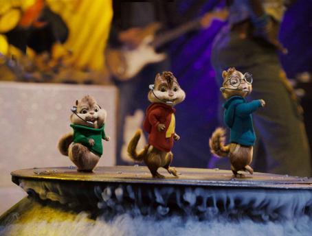 Alvin and the Chipmunks Theodore, Alvin and Simon bust a few moves. Photo credit: Rhythm & Hues.  and Characters TM & © 2007 Bagdasarian Productions, LLC. All rights reserved.
